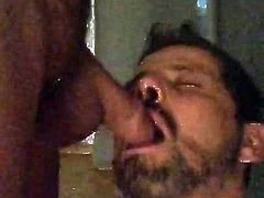 Mature man pissing in my hungry mouth