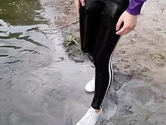 adidas leggings wet &mud