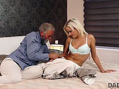 DADDY4K. Beautiful blonde embarks morning sex with...