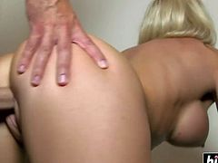 Housewife with big tits rode a cock