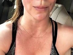 Jennifer Love Hewitt - selfie after workout, July 2018