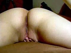 Wife fingering cunt while has dick in ass hole