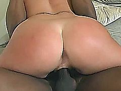 Sexy blonde slut get fucked hard by black dick