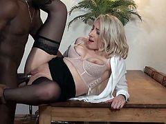 Julie a French teacher gets fucked outside of high school