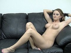 Busty blonde beauty gets fucked and takes a hot load