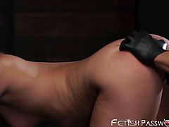 Stunning Madelyn Monroe bound and destroyed in prone bone