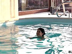 Madelina has very rich parents and lives in big awesome house with a swimming pool. Does this make her happy? Her dad was always away due to business and was very strict to her – he did not allow her to go out to parties and he hired her a personal swimming coach. When that big muscular man came inside the room - she knew at that same moment how she will revenge her tyrant dad! What can be better than that amazing black dick penetrating her tight pussy.