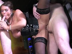 Sexy Suzy wants to fuck with two handsome guys at the same time
