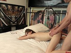 Kinky nerd Jay Taylor knows how to ride a dick properly