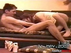 Mom fucks son on the couch- CHEATING!