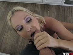 Lonely horny MILF stepmom takes a care of her stepson