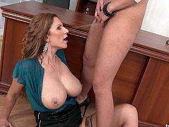 Pee fetish lesbians fuck each others right in the office