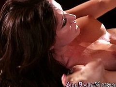 Massaging milf lesbians lick in sixtynine