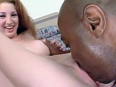 Sweet Redhead Stephanie has interracial sex