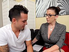 IRS Auditor Sara Jay Fucks Her Mark's Big Hard Cock!