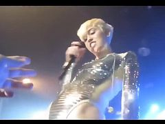 Miley cyrus hot performance on stage