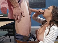busty student needs her teacher's dick