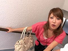 Well, do you still think that Asian women are shy and modest? You are wrong. Join us and see how public sex excites this Asian chick. Mei Aso never misses a chance to suck on her boyfriend's cock or to fuck with him, somewhere in public