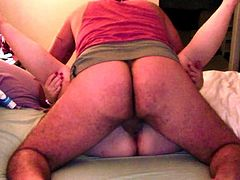 My chubby wife open her legs for me