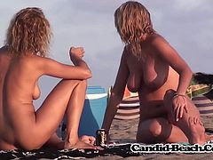 Horny Nudist Milfs Exposed Pussies By Hidden SpyCam At Beach