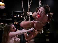 Chanel Preston wants to taste her new lover's pussy juices, so she ties her with ropes, suspends her and massages Isabella's clit with her fingers and with the help of vibrator. This hot video is full of passion. Join and enjoy!