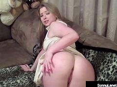 Community Girl Sunny Lane Sucks & Strokes Her Neighbor!