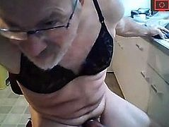 dad in bra with pomp