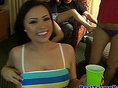 Real party amateur teens fucking at party