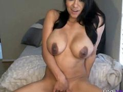 Latina Jazmine Torres with hot body and huge milky tits