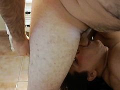 Thick bbw latina blowjob