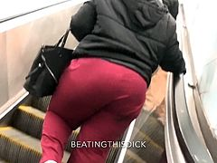 CLUELESS THICK GRANNY BUSTED ON
