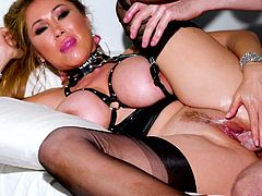 Kianna Dior is ready for everything to get my fresh cum so, she's working really hard, engulfing my hard penis with her wet pussy really deep... Join to see this busty Asian milf swallowing my warm semen!