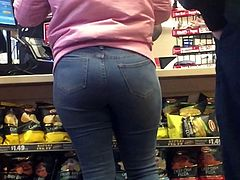 Nice Ebony Ass Close Up jeans