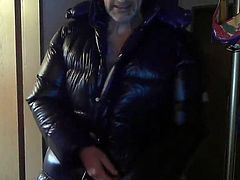 fetish shiny down coat