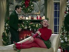 Miley Cyrus in red pantyhose pt. 2