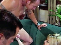 Noname Jane and 2 guys in hot porn video