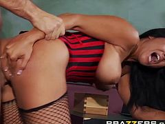 Big Tits at School - Kiara Mia Keiran Lee - Youre Busted Now Pound Me - Brazzers
