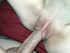 Shaved meaty pussy gets slow fucked