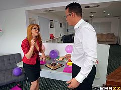Office sex with Penny Pax and her co-worker