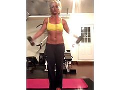 Britney Spears  Workout 4-24-19