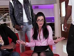 Checkout this super hot and naughty mature fuck slut getting her wet pussy and tight asshole drilled by 3 big black cocks.Watch this interracial foursome in HD.