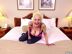 shameless granny comes to my studio to do pov HD