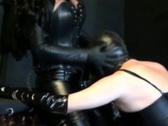 Femdom hot porn video with two naughty sluts
