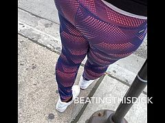 YOUNG THICK AZZ IN LEGGING