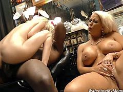two naughty busty blondes sharing a BBC