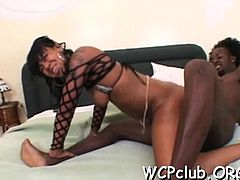 Black wench with great round butt loves to be fucked hard