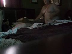 Ugly wife Krissy making the bed. See her fat nude body