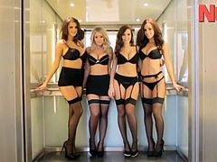 Office Strip ! - Joey Fisher, Melissa Debling, Rosie Jones, Sabine Jemeljanova