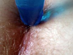 my sweet anus and my blue dildo